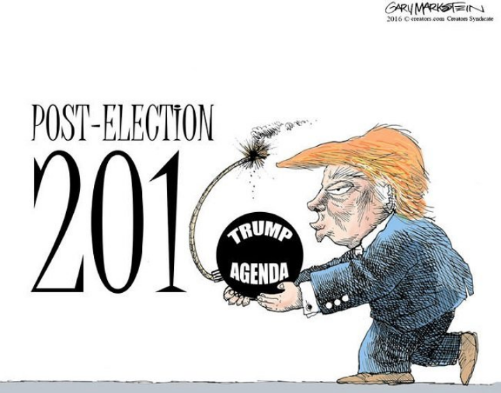 Political cartoons in 2016 by Gary Markstein