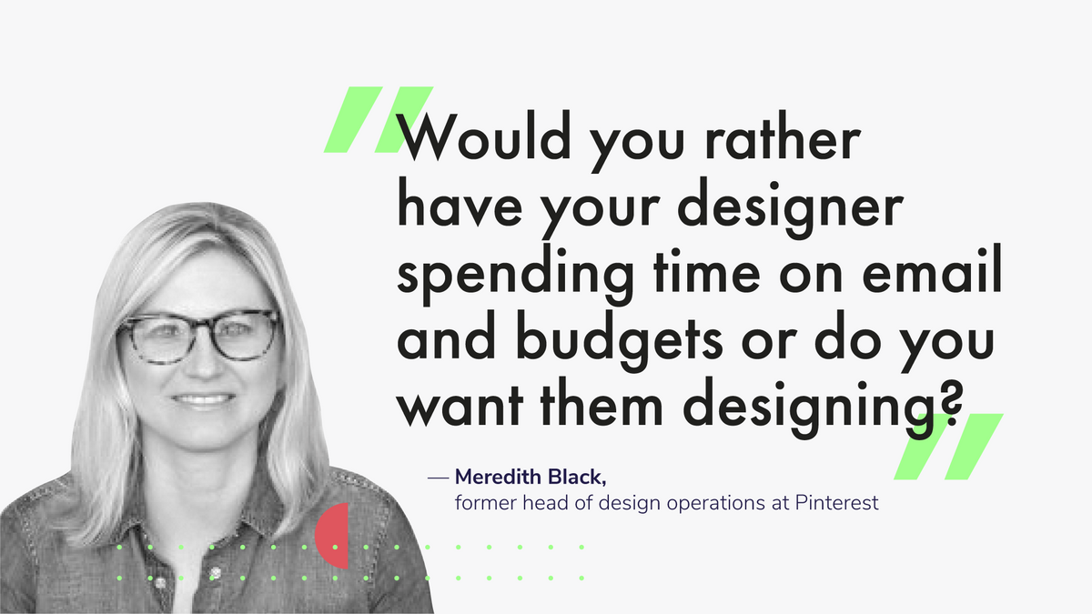 Meredith Black, former head of design operations at Pinterest