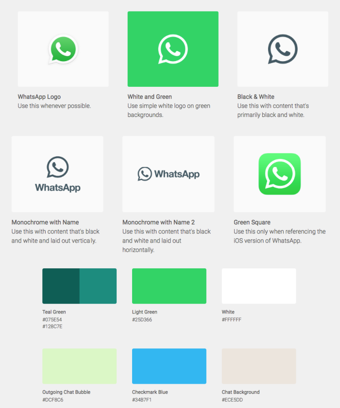 Whatsapp brand guide style
