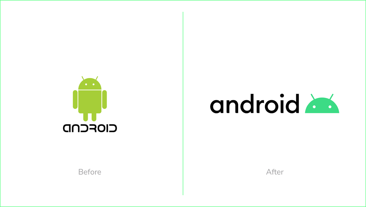Android rebrand new logo