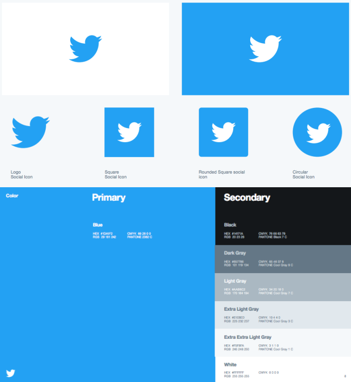 Twitter brand style guide