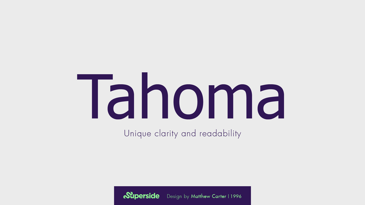 Tahoma best font for ppt