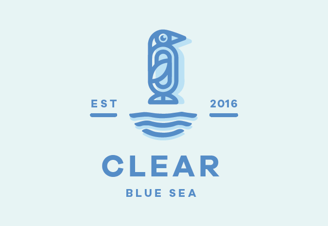 Clear Blue Sea logo redesign by Superside