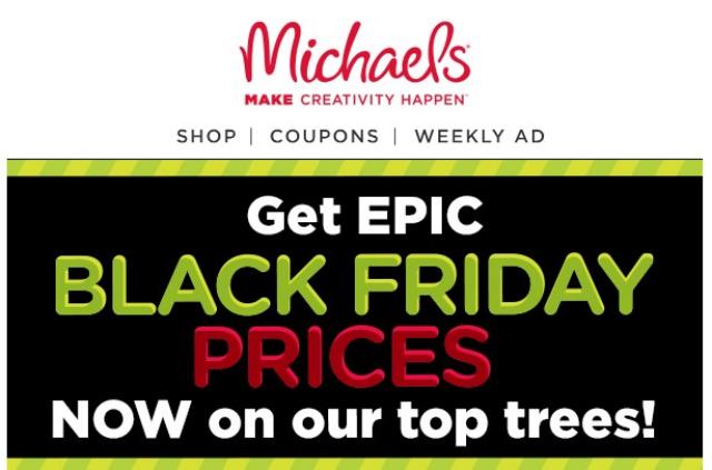 Michael's Black Friday marketing campaign