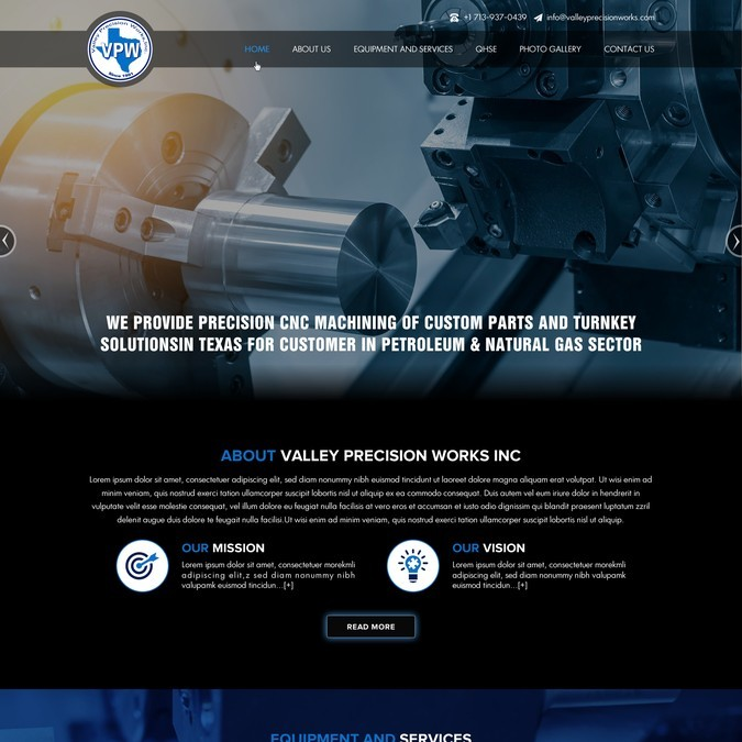 VPW Project Webpage Design