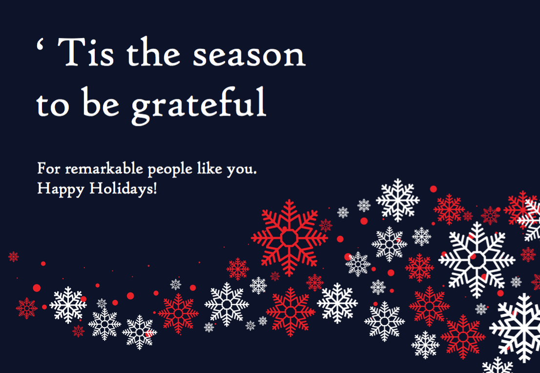 Tis the season to be grateful Card