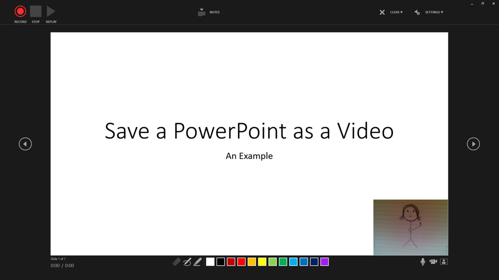 Preview when recording the slides