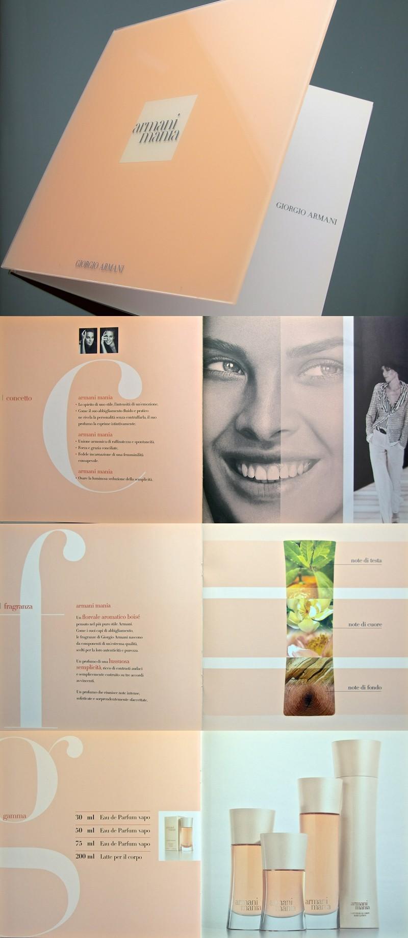 Giorgio armani brochure