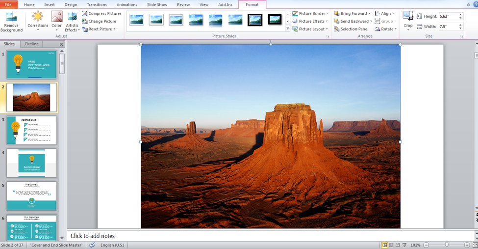 Select image in PowerPoint