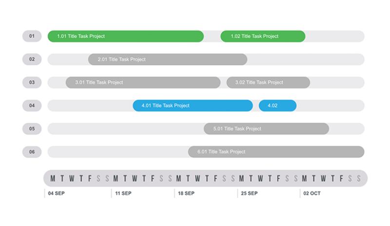 Gantt Chart Template PowerPoint sample