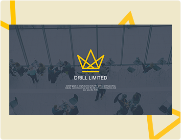 Drill Limited Powerpoint Template Design