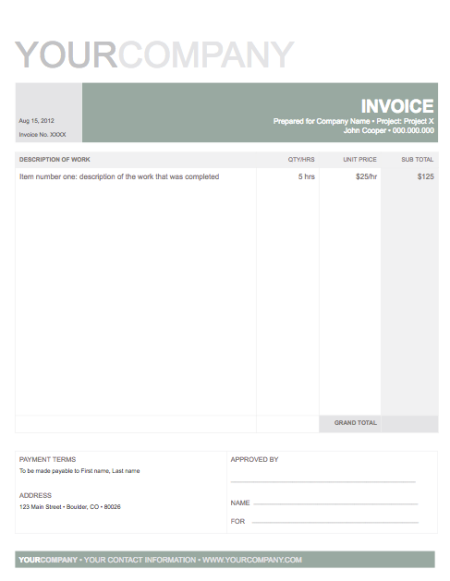 Professional Invoice Use This Template