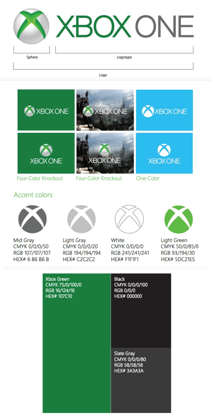 Xbox brand style guide