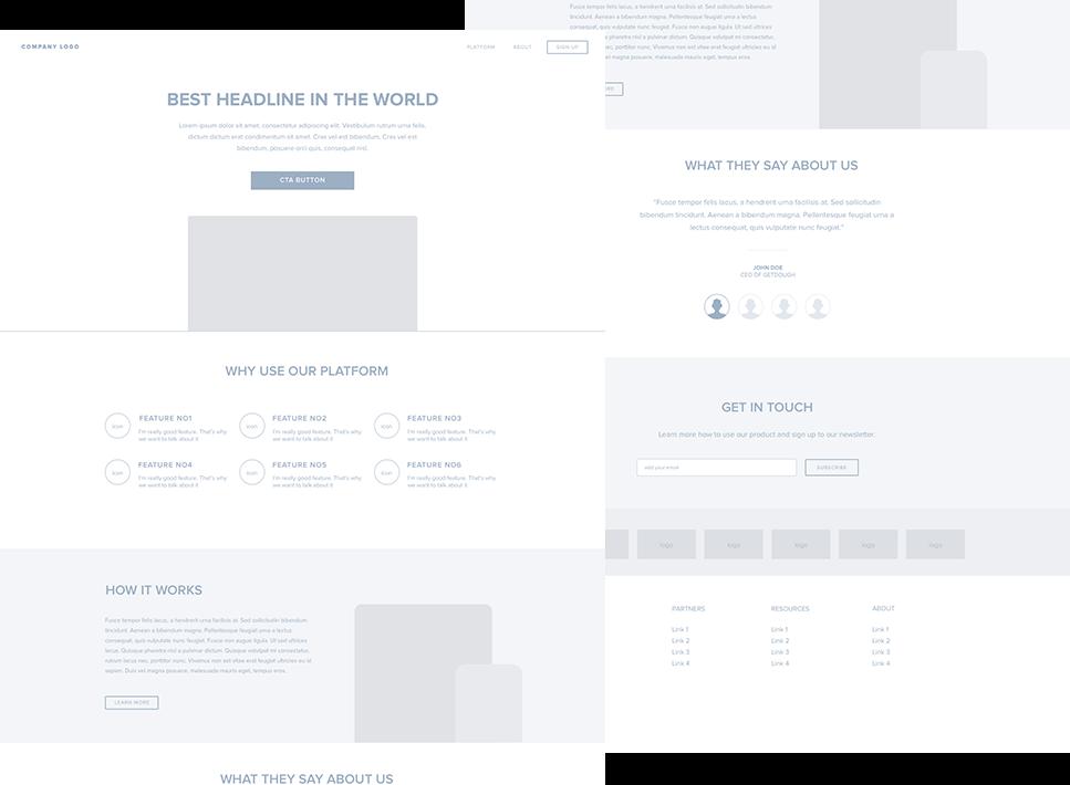 Wireframe Design for Websites and Apps