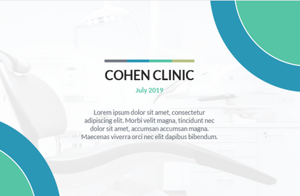 Cohen Clinic Powerpoint Design