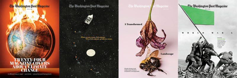 The Washington Post Magazine – 24 Magazine Covers About Climate Change