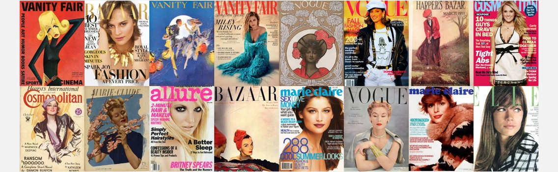 The Ever-Changing Graphic Design of Magazine Covers as a Visual Historical Timeline