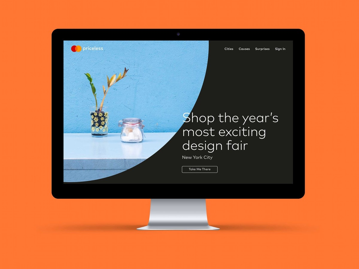 Mastercard new website design