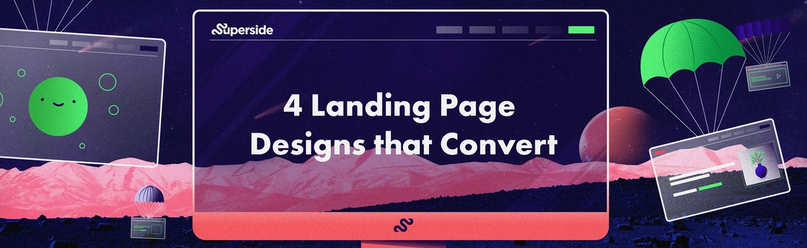 4 landing page ideas and designs