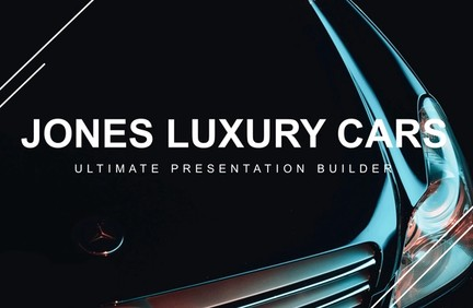 Jones Cars Powerpoint Design