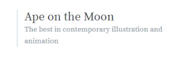 Ape on the Moon blog logo