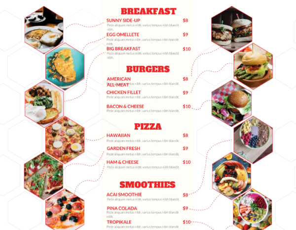 food-menu brochure