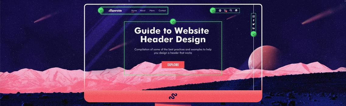 Creating a website header design