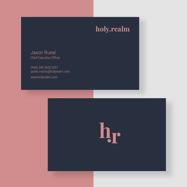 Minimalist business card sample