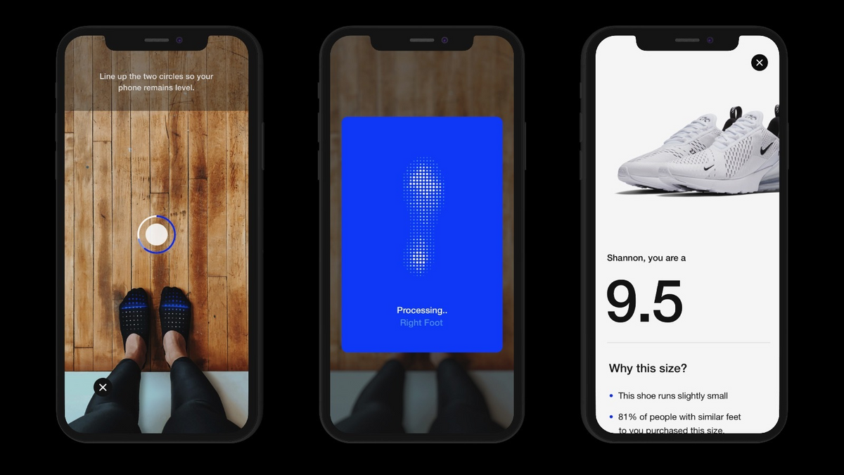 A more cutting-edge trend of 2019 relates to AR: Nike apps