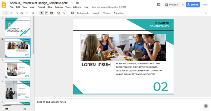 Preview of Google Slides