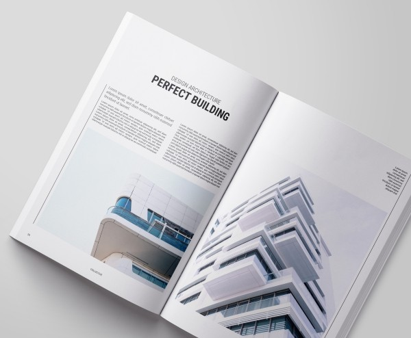 Minimalist magazine sample