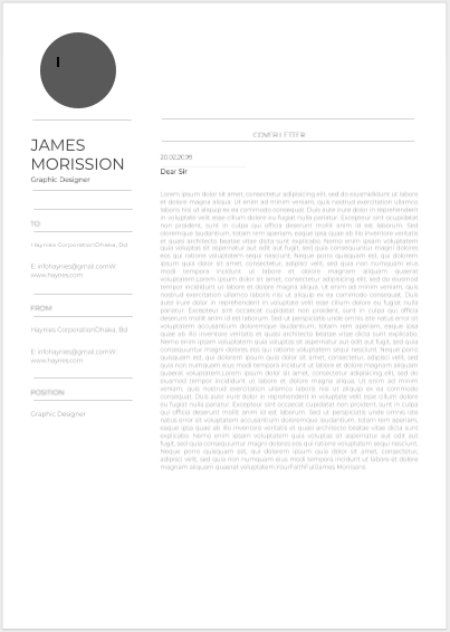 minimalist cover letter
