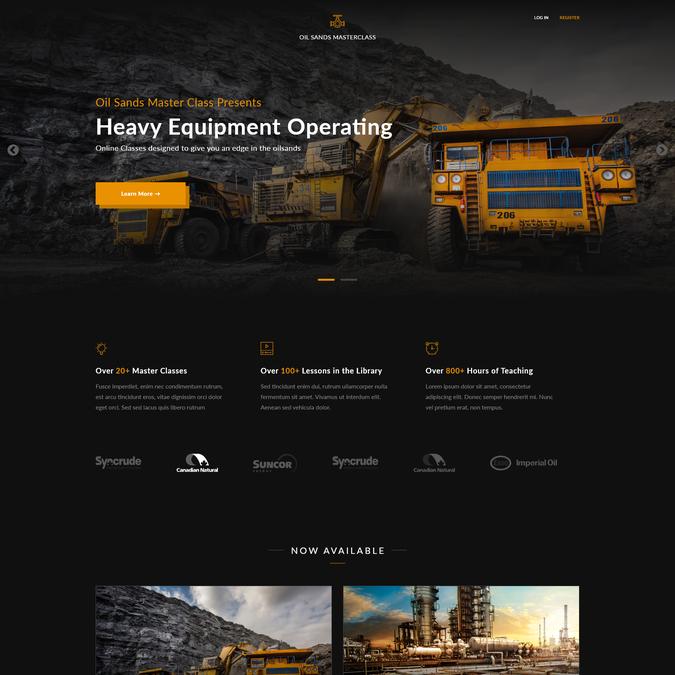 Oil Sands Master Class Website Design