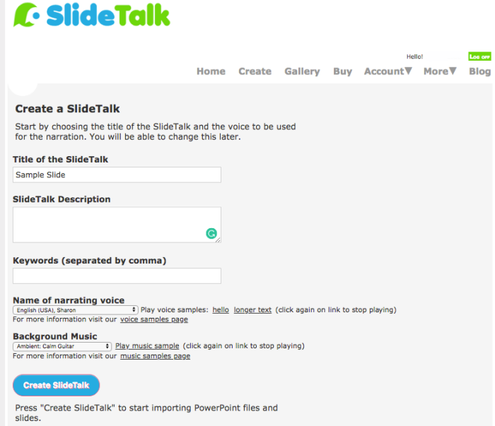 Preview of SlideTalk