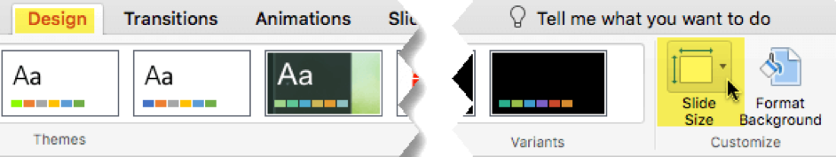 Preview of Design tab Mac