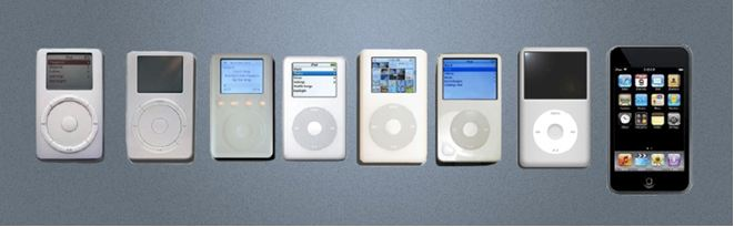 Apple's iPod designs similarity