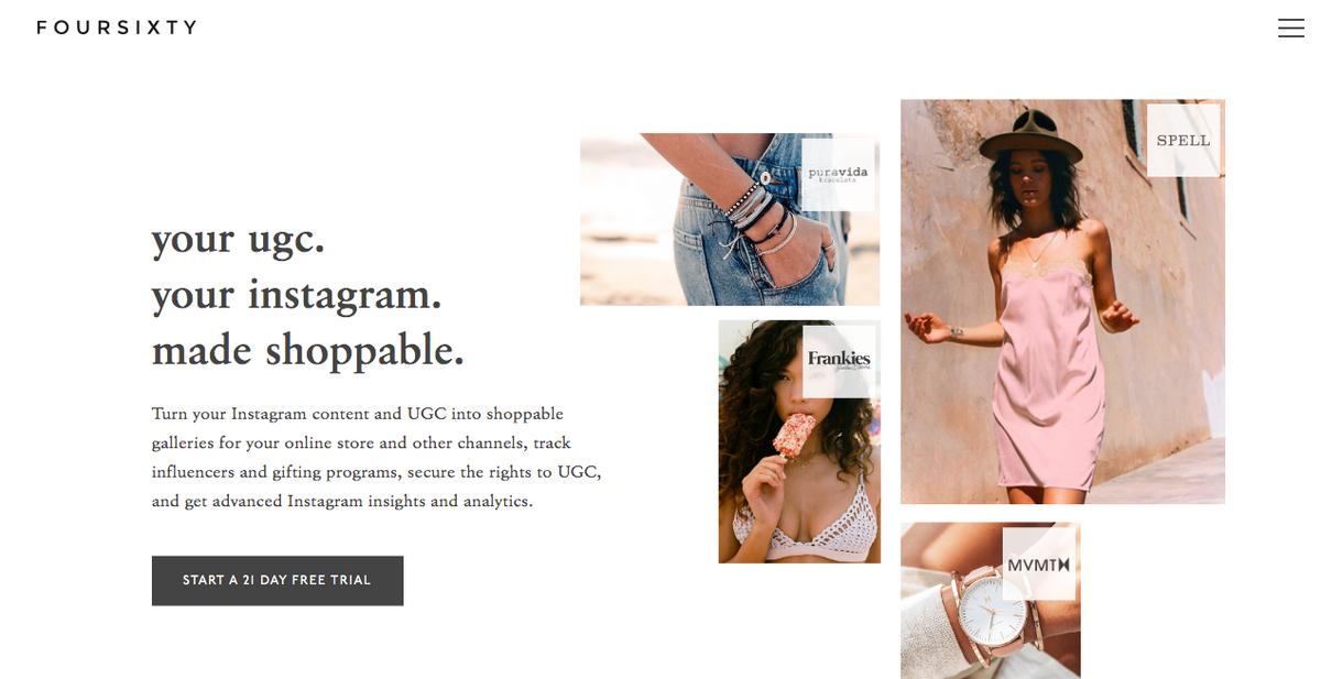 Foursixty homepage design