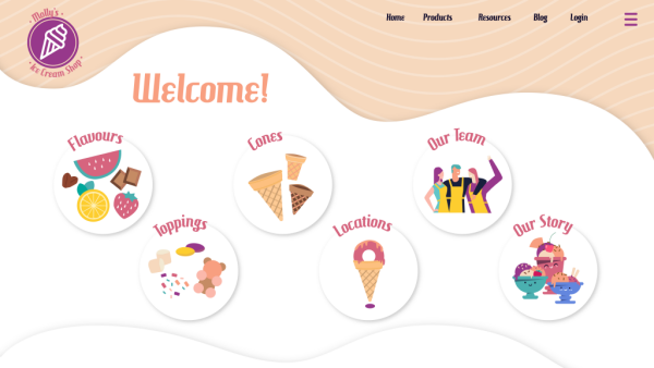 Illustrated web design sample