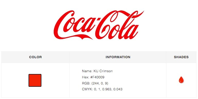 Coca Cola Logo color branding