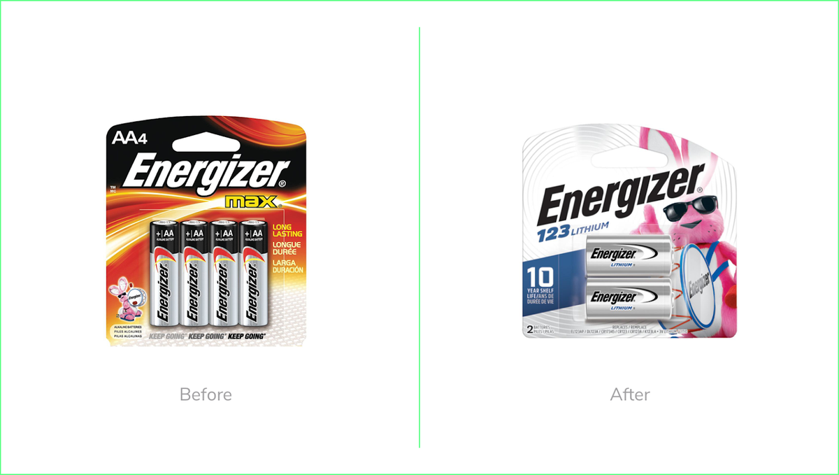 Energizer new packaging