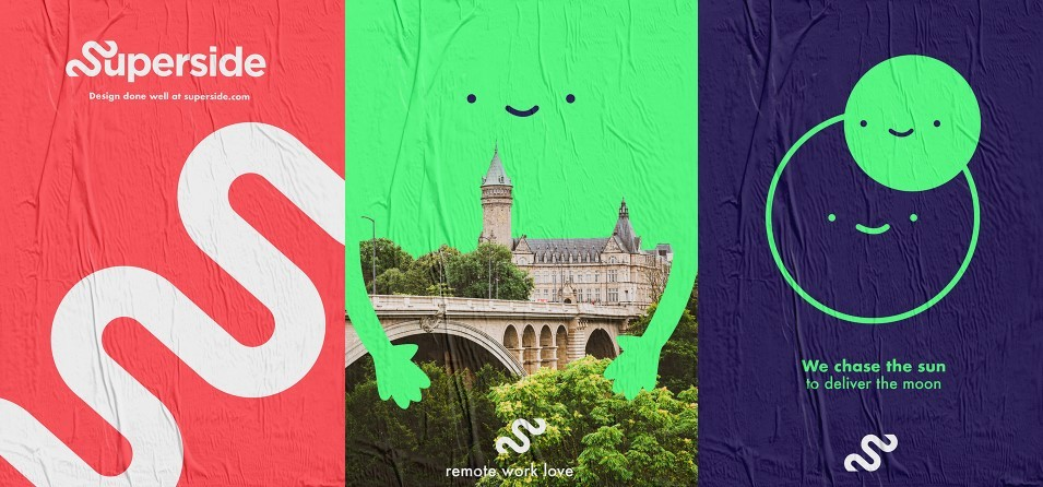 Ad options: Outtakes from Superside's brand breakdown on Behance