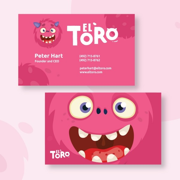 Playful business card sample