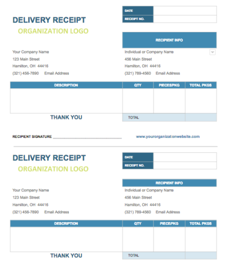 delivery invoice