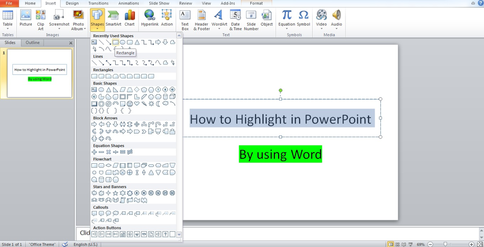 how to highlight text in mac powerpoint