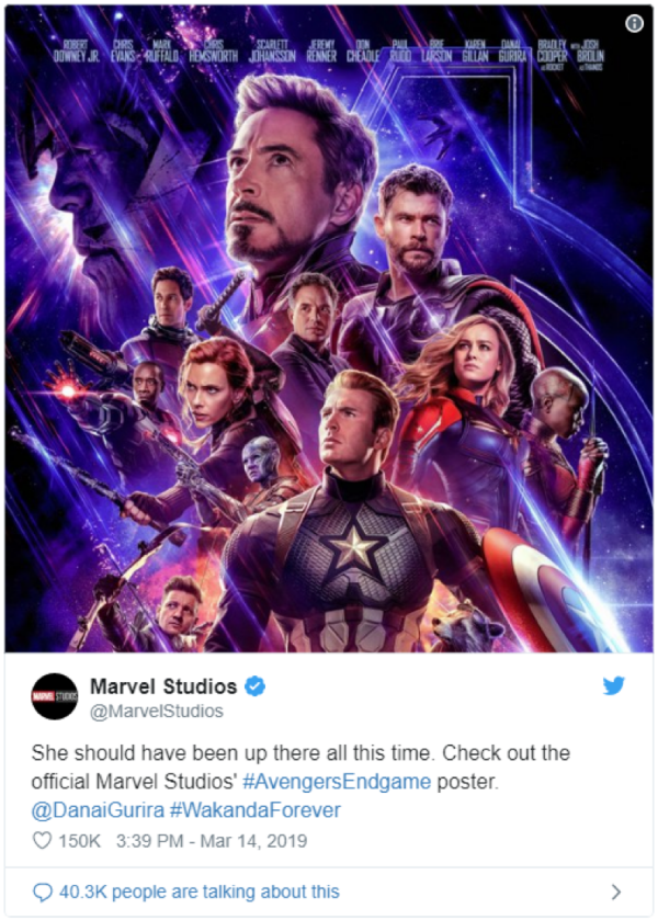 Official statements from Marvel after fixing the poster