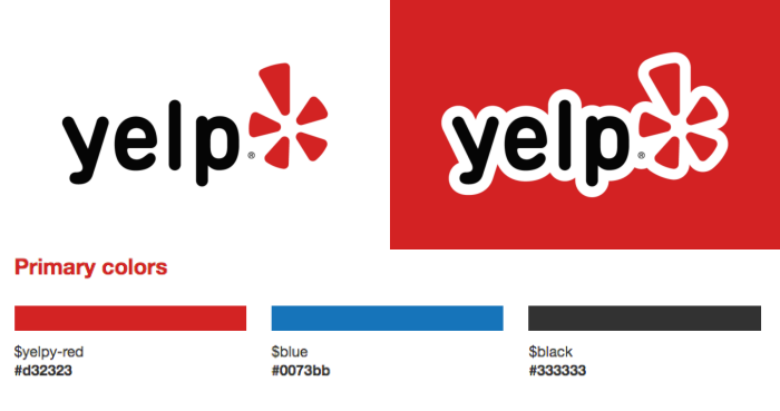 Yelp brand style guide