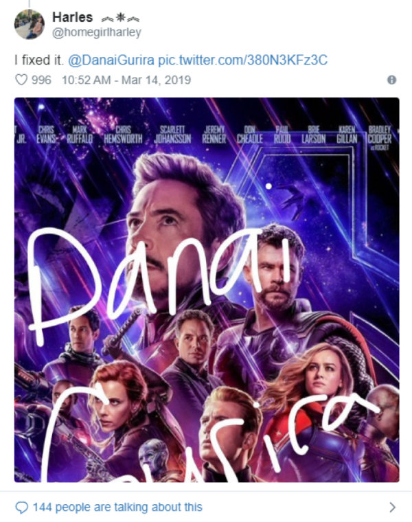 Fans critics on Avengers: End Game poster