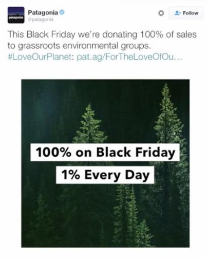Patagonia Black Friday marketing campaign