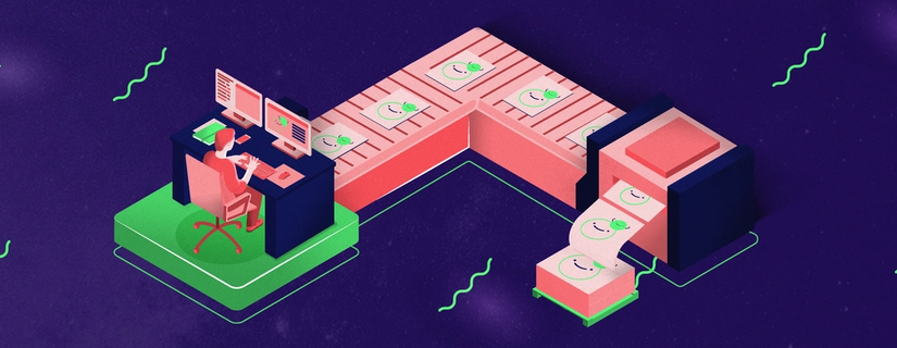 illustration of graphic design process