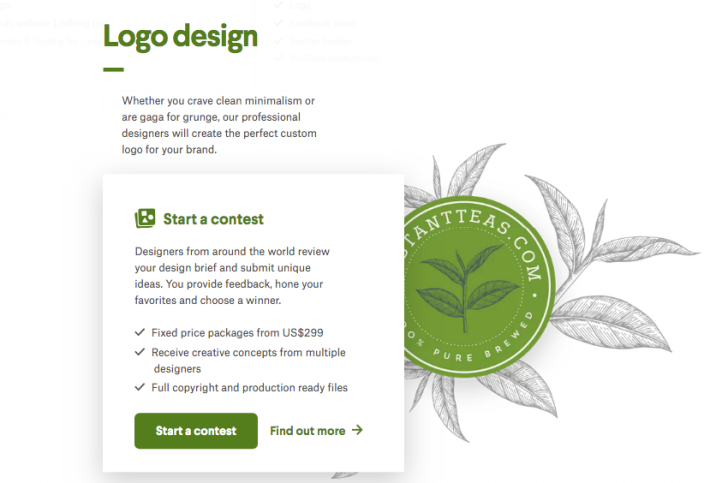 You can also purchase additional logos or brand components at the beginning and throughout the process
